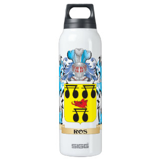 Ros Coat of Arms - Family Crest 16 Oz Insulated SIGG Thermos Water Bottle