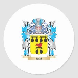 Ros Coat of Arms - Family Crest Classic Round Sticker