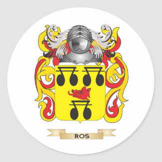 Ros Coat of Arms (Family Crest) Classic Round Sticker