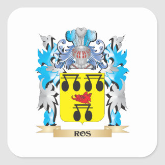 Ros Coat of Arms - Family Crest Square Sticker