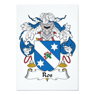 Ros Family Crest Card