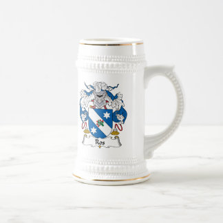 Ros Family Crest 18 Oz Beer Stein