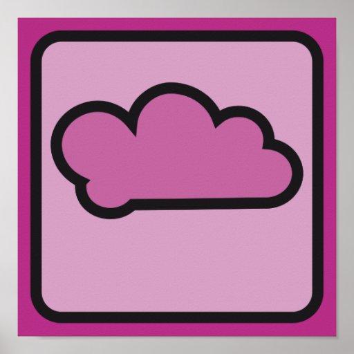 rosa 02 de la nube poster