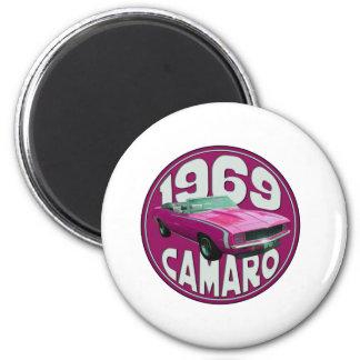 Rosa 1969 de Camaro SS Iman Para Frigorífico