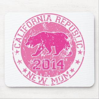 rosa 2014 de la mamá de la república de California Tapete De Raton