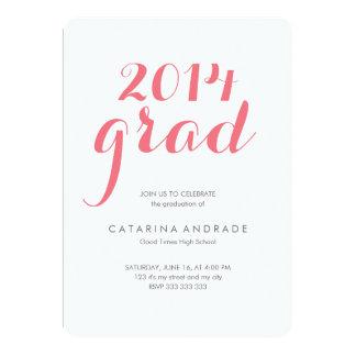Rosa 2014 del graduado de la fiesta de graduación invitaciones personalizada