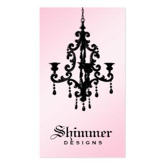 rosa 2 de la lámpara 311-Shimmer Tarjetas De Visita