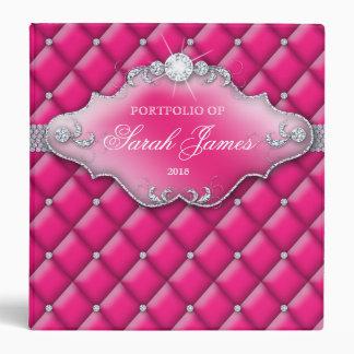 """Rosa 2 del dulce 16 de los diamantes de la cartera carpeta 1 1/2"""""""