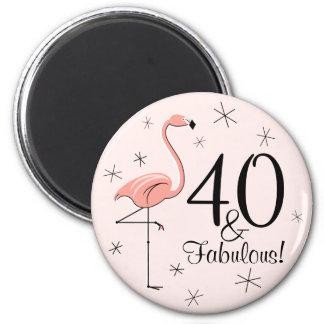 ¡Rosa 40 del flamenco y fabuloso! imán