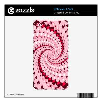 Rosa abstracto calcomanías para el iPhone 4S