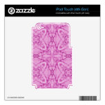 Rosa abstracto del modelo iPod touch 4G skin