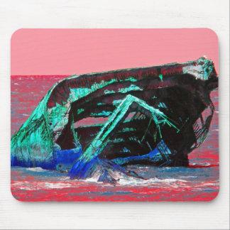 Rosa abstracto del naufragio alfombrilla de ratón