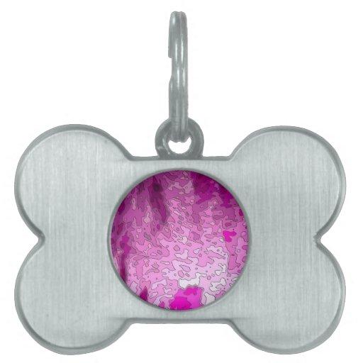 rosa abstracto del neón de los mapas placas mascota