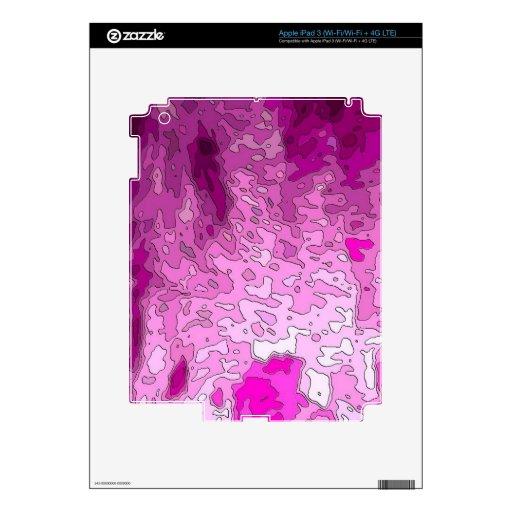 rosa abstracto del neón de los mapas pegatinas skins para iPad 3