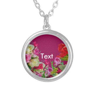 Rosa abstracto floral hermoso colgante redondo