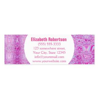Rosa abstracto moderno tarjetas de visita mini