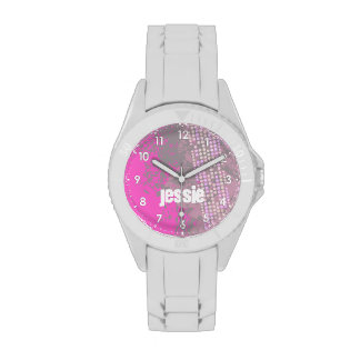 Rosa abstracto numerado reloj conocido de los