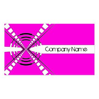 rosa abstracto original del diseño del altavoz tarjetas de negocios