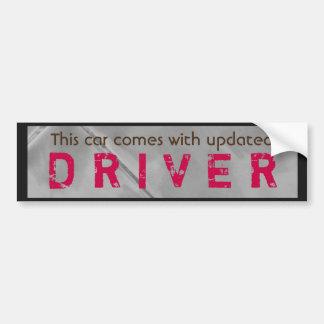 Rosa actualizado divertido Brown del conductor Pegatina Para Auto