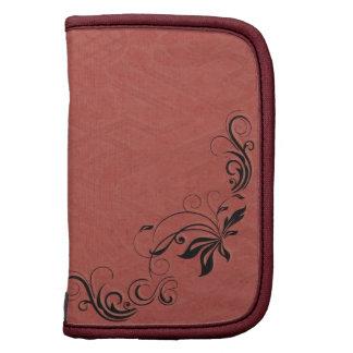 Rosa afiligranado y de color salmón negro planificadores