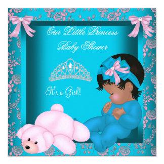 """Rosa afroamericano del trullo de la princesa invitación 5.25"""" x 5.25"""""""
