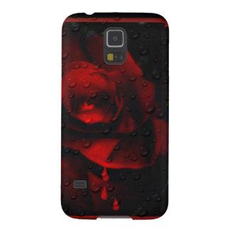 Rosa-Agridulce rojo gótico Funda Para Galaxy S5