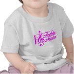 ROSA agudo del fabricante Camisetas