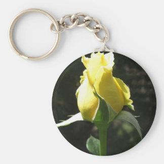 Rosa amarillo 1 llavero redondo tipo pin