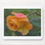 Rosa amarillo alfombrilla de ratón