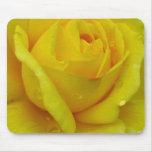 Rosa amarillo alfombrilla de ratones