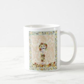 Rosa amarillo Birdhou… Taza De Café