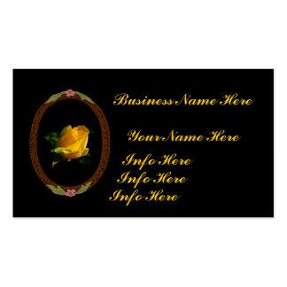 Rosa amarillo brillante plantilla de tarjeta de negocio