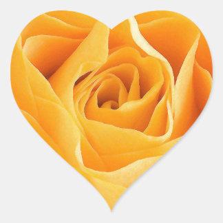 Rosa amarillo calcomania corazon personalizadas