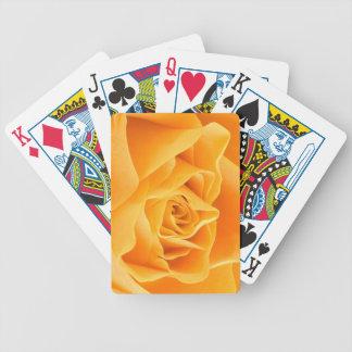 Rosa amarillo cartas de juego
