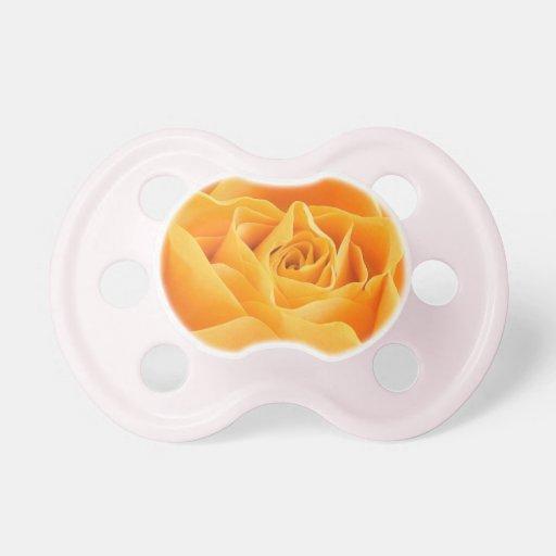 Rosa amarillo chupetes para bebes