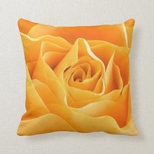 Rosa amarillo cojines
