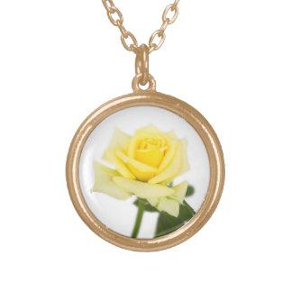 Rosa amarillo pendiente personalizado