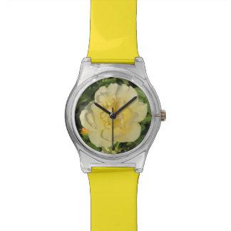 Rosa amarillo de Oregold Reloj De Mano
