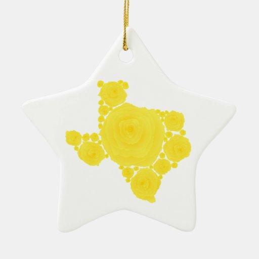 Rosa amarillo de Tejas Adorno De Reyes