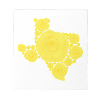 Rosa amarillo de Tejas Libretas Para Notas