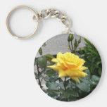 Rosa amarillo de Tejas Llavero Personalizado