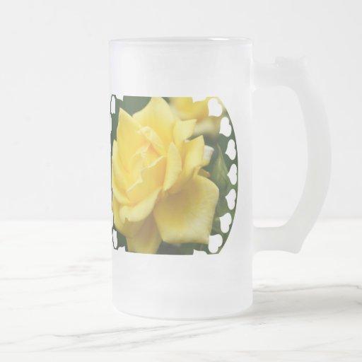 Rosa amarillo de Tejas Taza De Cristal