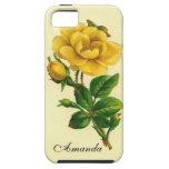 Rosa amarillo del vintage iPhone 5 cárcasa
