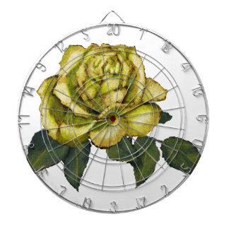 Rosa amarillo Dibujo de lápiz del color Flor Tablero Dardos