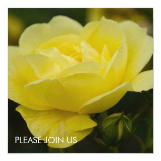 """Rosa amarillo DSC1876 Invitación 5.25"""" X 5.25"""""""