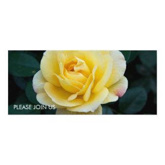 """Rosa amarillo DSC3676 Invitación 4"""" X 9.25"""""""