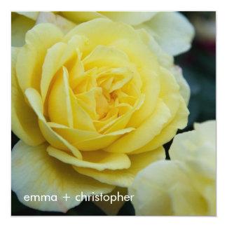 """Rosa amarillo DSC3677 Invitación 5.25"""" X 5.25"""""""