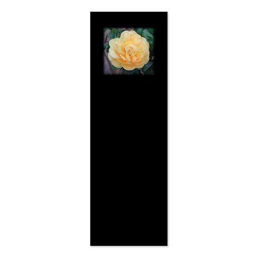 Rosa amarillo, en fondo negro tarjetas de visita mini