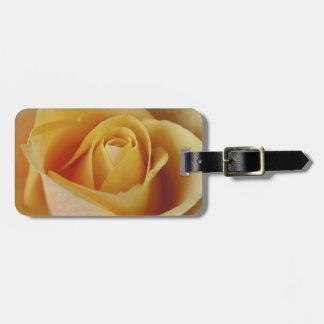 Rosa amarillo etiquetas de maletas