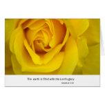 Rosa amarillo felicitacion